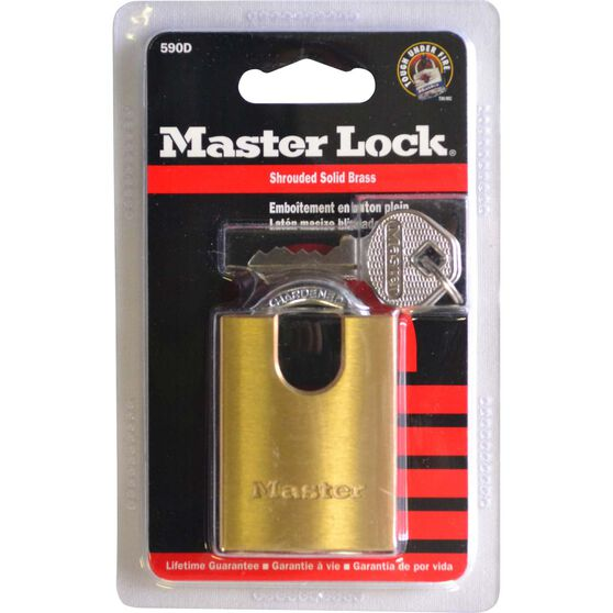 Master Lock Padlock - Shrouded Brass, 40mm, , scanz_hi-res