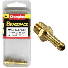 Champion Male Hose Barb - 1 / 4inch X 1 / 8inch, Brass, , scanz_hi-res