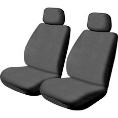 SCA Canvas Seat Covers - Charcoal, Adjustable Headrests, Size 30, Front Pair, Airbag Compatible, , scanz_hi-res