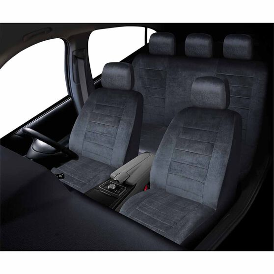 Executive Seat Cover Pack - Grey, Adjustable Headrests, Size 30 & 06H, Front & Rear Pack, Airbag Compatible, , scanz_hi-res