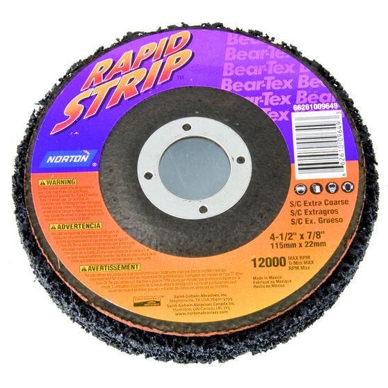 Norton BearTex Rapid Strip Disc Extra Coarse 115mm x 22mm, , scanz_hi-res