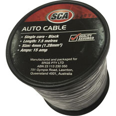 SCA Auto Cable - 7.5m, 4mm, Low Tension, Black, , scanz_hi-res