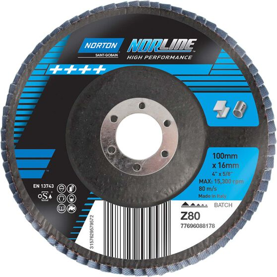 Norton Flap Disc - 80 Grit, 100mm, , scanz_hi-res
