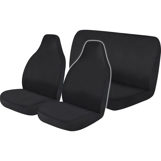 Best Buy Seat Cover Pack - Black, Built-in Headrests, Airbag Compatible, , scanz_hi-res