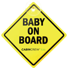 Cabin Crew Kids Baby On Board Sign, , scanz_hi-res
