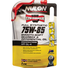 Nulon EZY-SQUEEZE Smooth Shift Gearbox & Differential Oil 75W-85 1 Litre, , scanz_hi-res