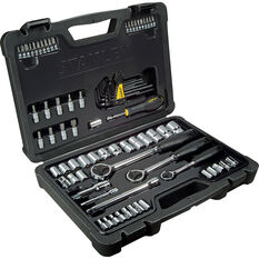 "Stanley Socket Set 1/4"" 3/8"" & 1/2"" Metric 80 Piece, , scanz_hi-res"