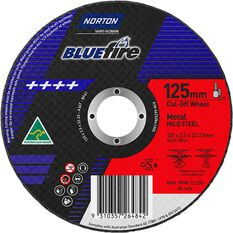 Norton Metal Cut off Disc - 125mm x 2.5mm x 22mm, , scanz_hi-res