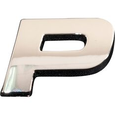 SCA 3D Chrome Badge Letter P, , scanz_hi-res