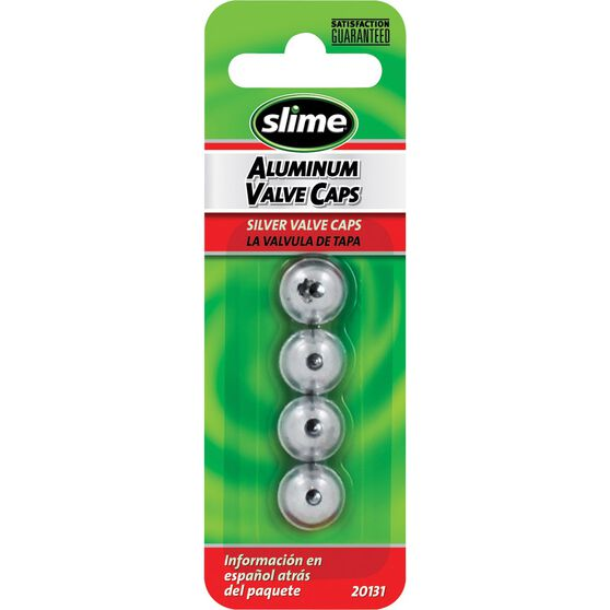 Slime Valve Caps - Anodized, Silver, 4 Piece, , scanz_hi-res