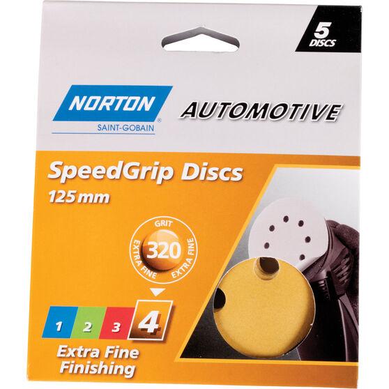 Norton Speed Grip Disc 320 Grit 125mm 5 Pack, , scanz_hi-res