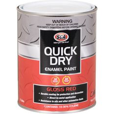 Quick Dry Enamel Red 1 Litre, , scanz_hi-res