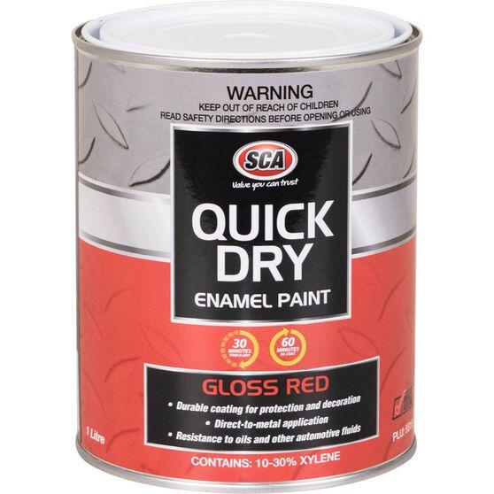 Quick Dry Enamel Red 1 Litre, , scanz_hi-res