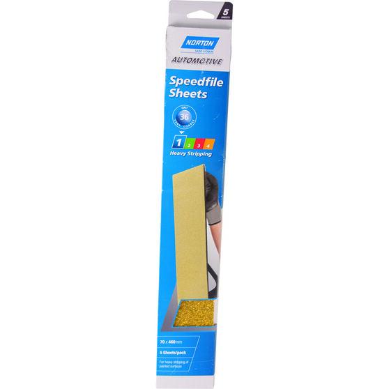 Norton Speed File Sheet - 36 Grit, 5 Pack, , scanz_hi-res
