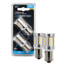 Calibre LED Globe Amber - Bayonet, 12V, P21/5W BAY 15D, , scanz_hi-res