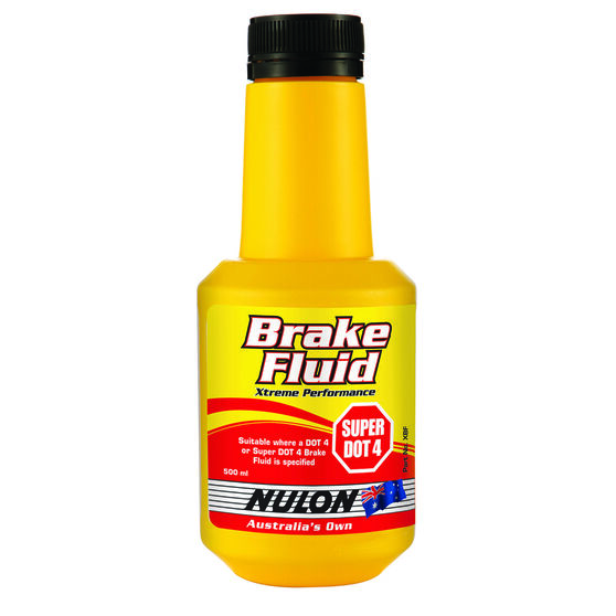 Nulon Xtreme Performance Brake Fluid Super DOT 4 - 500mL, , scanz_hi-res
