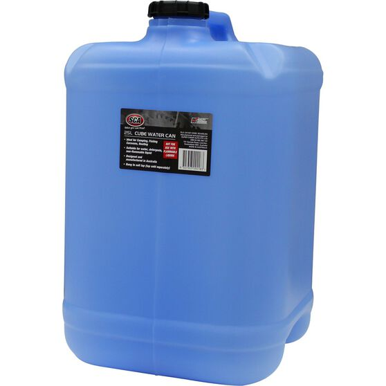 Water Carry Can - 25 Litre, Cube, Blue, , scanz_hi-res