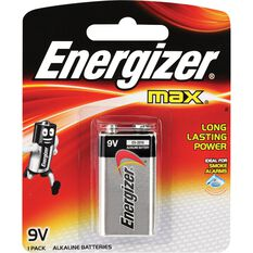 Energizer Max Battery - 9V, , scanz_hi-res