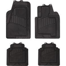 Car Floor Mats - Rubber, Black, Set of 4, Semi Tailored SUV, , scanz_hi-res