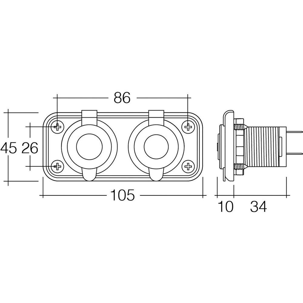 12 24v Twin Accessory Usb Socket Heavy Duty Acc Dual Sockets Autostar To Wiring Diagram