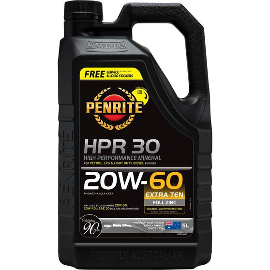 Penrite HPR 30 Engine Oil - 20W-60, 5 Litre, , scanz_hi-res