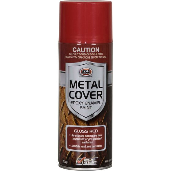 SCA Metal Cover Enamel Rust Paint - Gloss Red, 300g, , scanz_hi-res