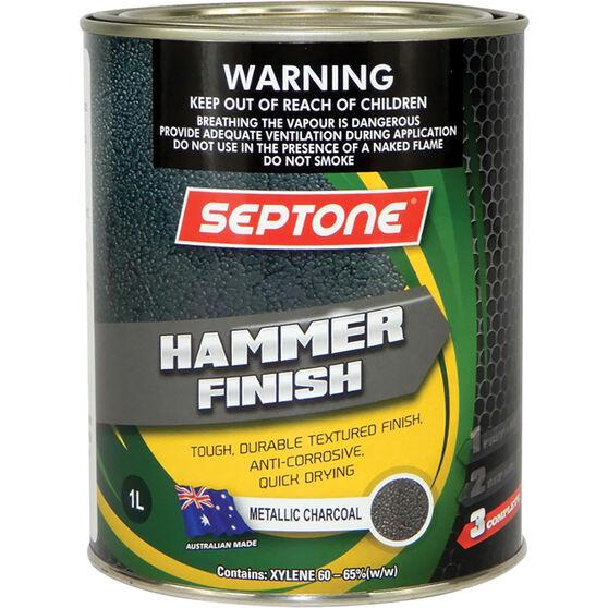 Septone Paint Hammer Finish - Metallic Charcoal, 1 Litre, , scanz_hi-res