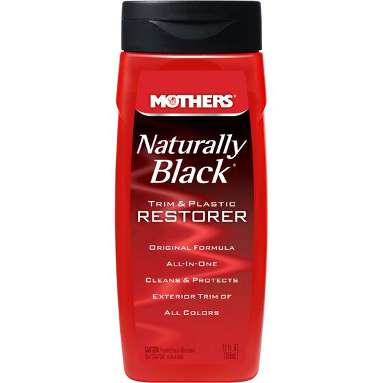 Mothers Naturally Black Trim and Plastic Restorer - 355mL, , scanz_hi-res