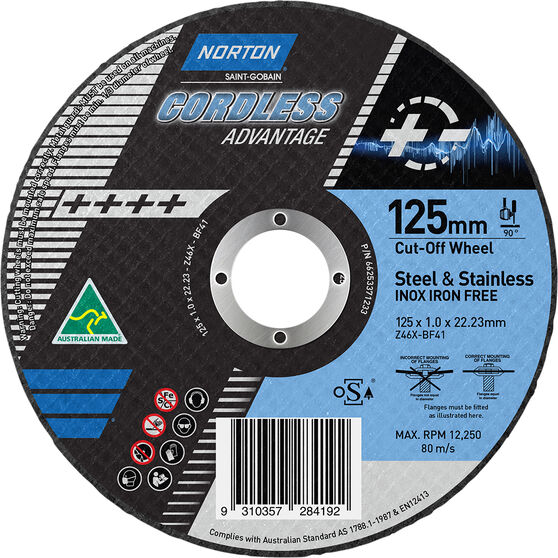 Norton Cordless Cutting Wheel - 125mm, , scanz_hi-res