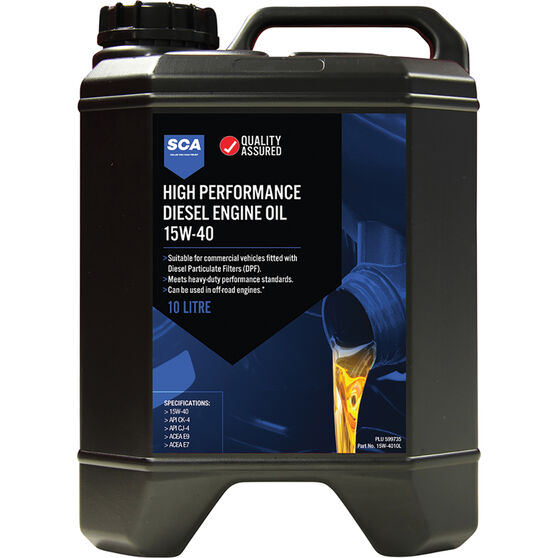 SCA High Performance Diesel Engine Oil 15W-40 10 Litre, , scanz_hi-res