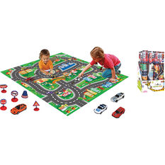 Kids Road Playmat With Vehicles & Signs, , scanz_hi-res