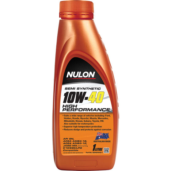 Nulon Semi Synthetic High Performance Engine Oil - 10W-40 1 Litre, , scanz_hi-res