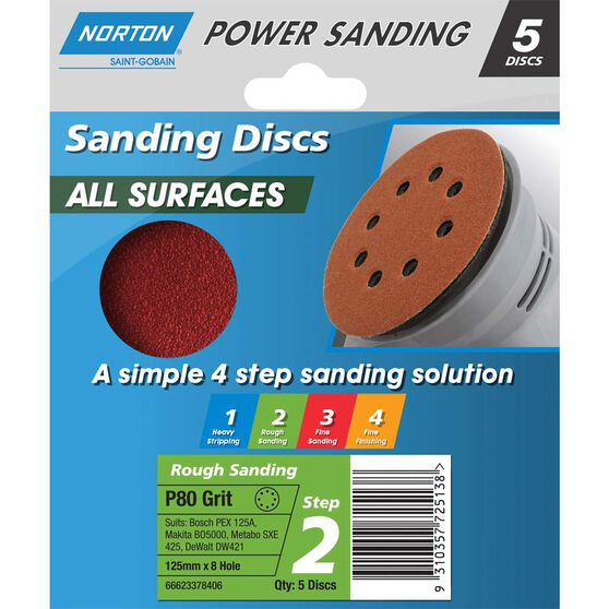Norton Disc Sander - 80 Grit, 125mm, , scanz_hi-res