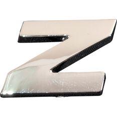 SCA 3D Chrome Badge Letter Z, , scanz_hi-res