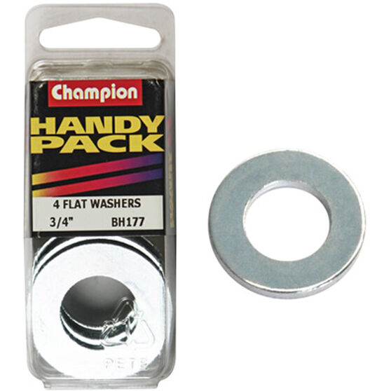 Champion Flat Steel Washers - 3 / 4inch, BH177, Handy Pack, , scanz_hi-res