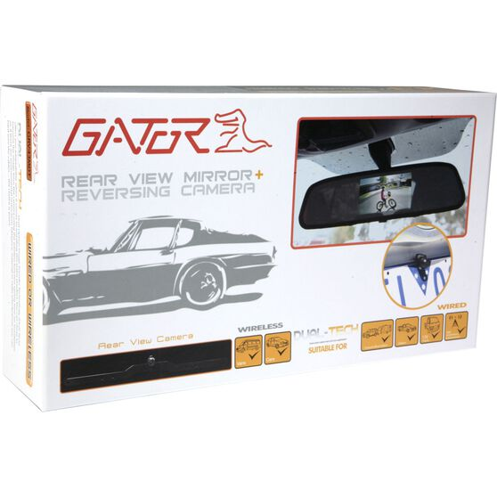 Gator Rear View Mirror and Camera Kit - Wired, 4.3inch, GRV43MDT, , scanz_hi-res