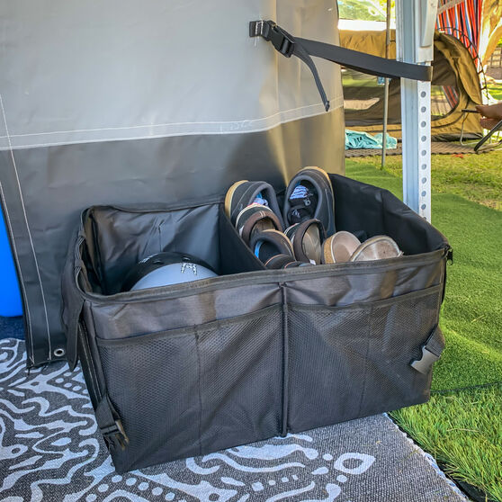Cabin Crew Organiser - Double Boot, Black, , scanz_hi-res