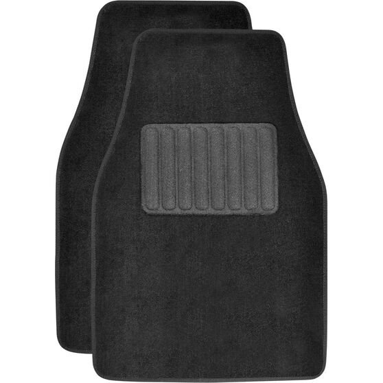 SCA Car Floor Mats - Carpet, Black, Front Pair, , scanz_hi-res