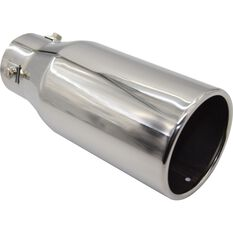 Stainless Steel Exhaust Tip - Straight Cut Rolled Tip suits 40mm to 52mm, , scanz_hi-res