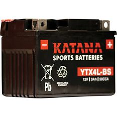 Powersports Battery -  YTX4L-BS, , scanz_hi-res