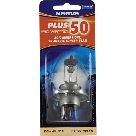 Narva Headlight Globe - Plus 50, H4, 12V, 60/55W, , scanz_hi-res