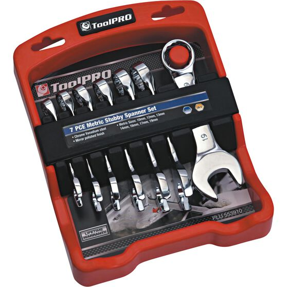 ToolPRO Spanner Set Stubby Metric 7 Piece, , scanz_hi-res