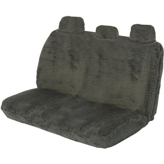 SCA Comfort Fur Seat Cover - Slate, Adjustable Headrests, Size 06H, Rear Seat, , scanz_hi-res