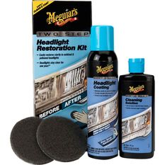 Meguiar's Two Step Headlight Restoration Kit, , scanz_hi-res