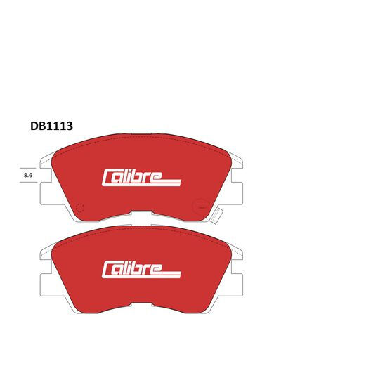 Calibre Disc Brake Pads - DB1113CAL, , scanz_hi-res