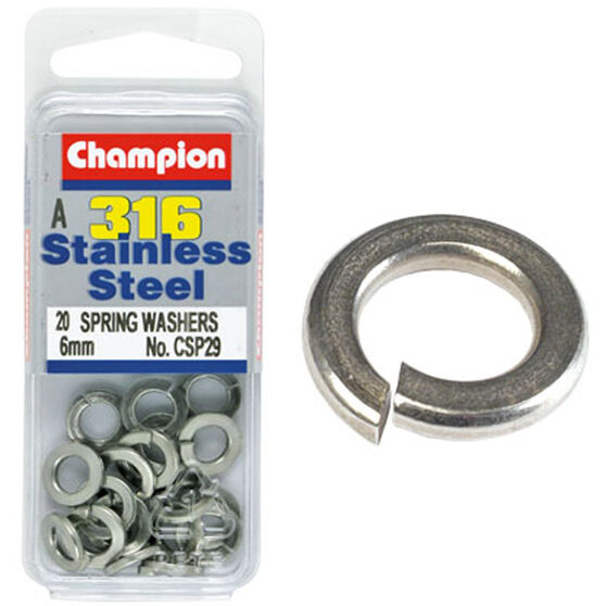 Champion Spring Washers - 6mm 6mm, , scanz_hi-res
