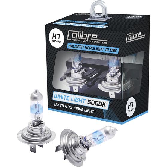 Calibre Headlight Globes, White Light 5000k - H7, 12V, 55W, , scanz_hi-res