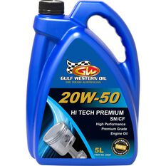 Gulf Western Hi Tech Premium Engine Oil 20W-50 5 Litre, , scanz_hi-res