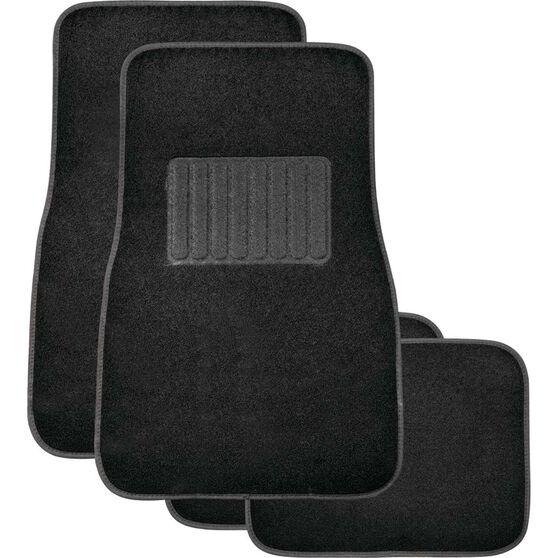 SCA Premier Car Floor Mats - Carpet, Black, Set of 4, , scanz_hi-res