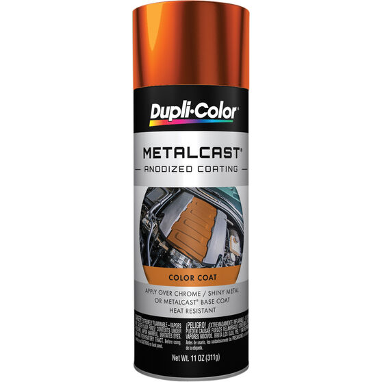 Dupli-Color Metalcast Aerosol Paint - Enamel, Orange Anodised, 311g, , scanz_hi-res